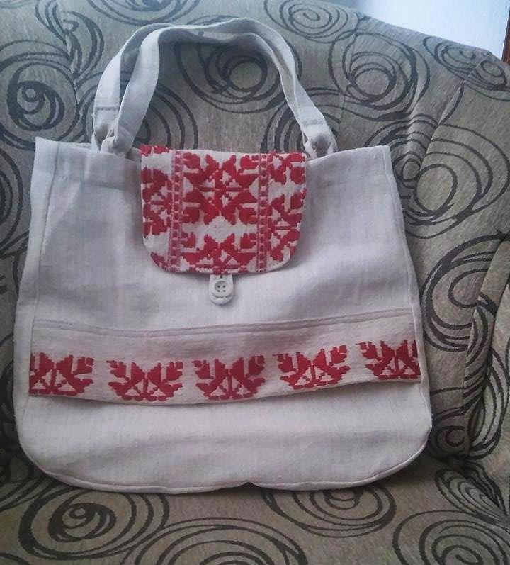 Od lana haljina tkana torbe FB (2)