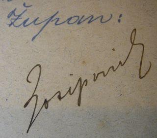 Potpis Ljudevita pl. Josipovića (župan 1893.-1918.), Izvor: Slavko pl. Stepanić