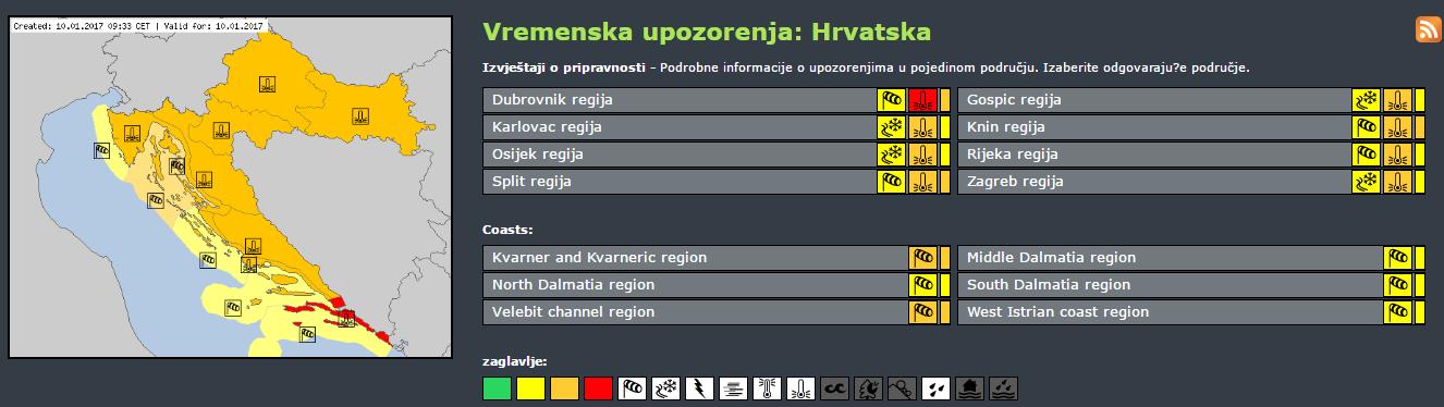 Foto: Meteoalarm/PrintScreen
