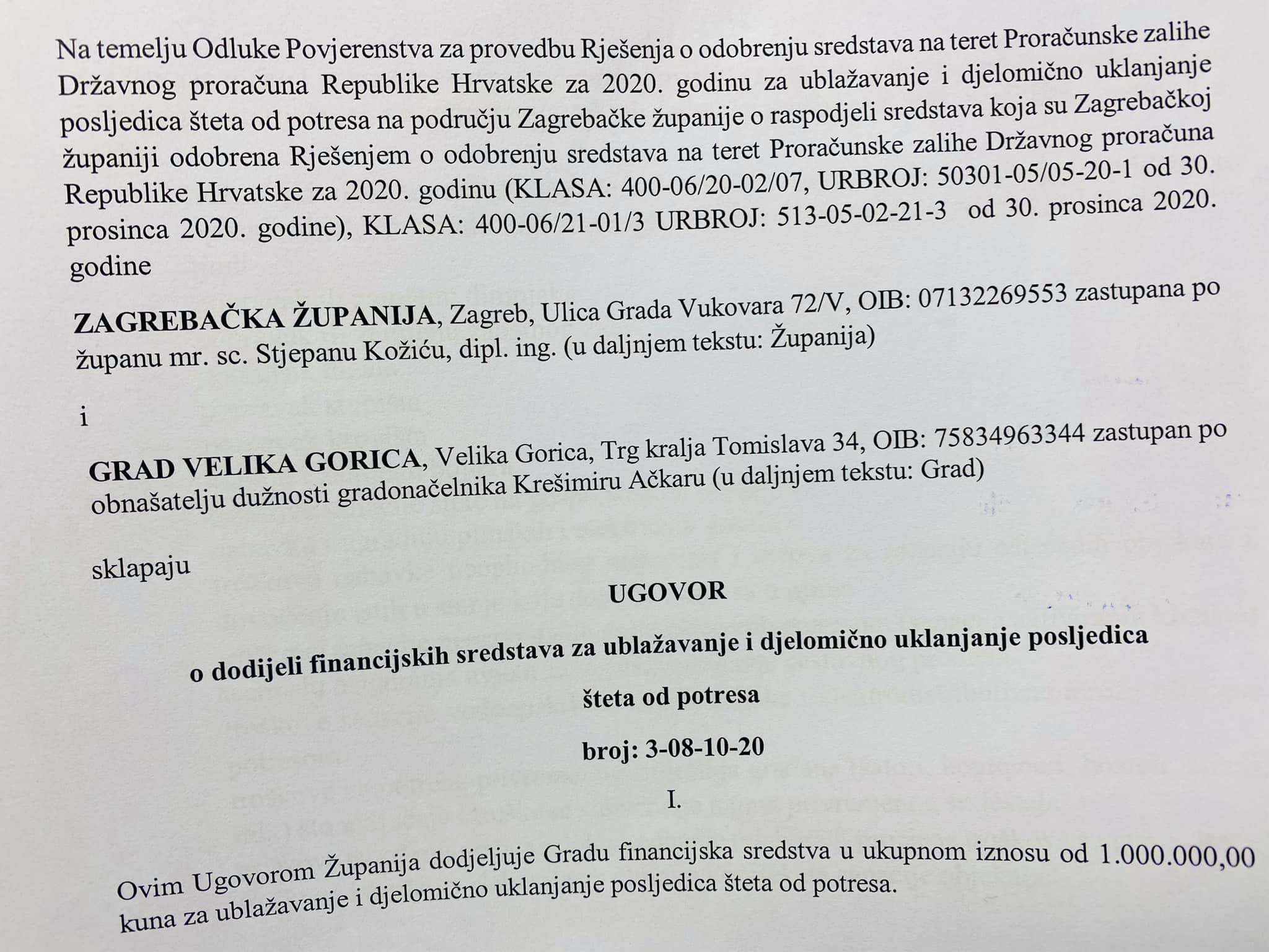 Velika Gorica Dobila Milijun Kuna Za Uklanjanje Posljedica Steta Od Potresa Velika Gorica Online